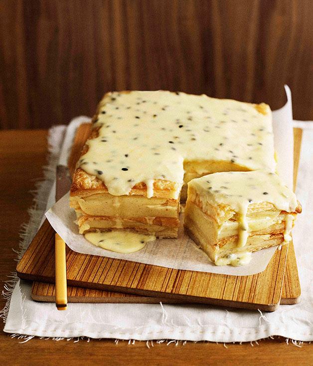 Passionfruit Vanilla Slice Gourmet Traveller