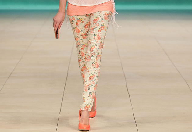 Have fun with floral pants